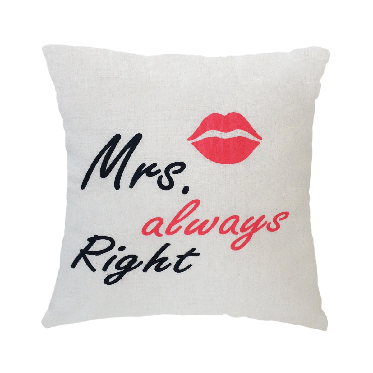 Stiletto In Style Cushion Cover Mrs. Always Right (White) 40 X 40Cm