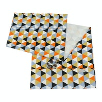 Stiletto Living Cover Kulkas - Triangle Black Orange