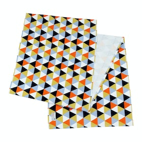 Stiletto Living Table Runner / Taplak Meja - Triangle Black Orange