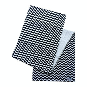 Stiletto Living Table Runner / Taplak Meja - Black Chevron