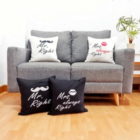 Stiletto In Style Cushion Cover Mrs. Always Right (Black) 40 X 40Cm