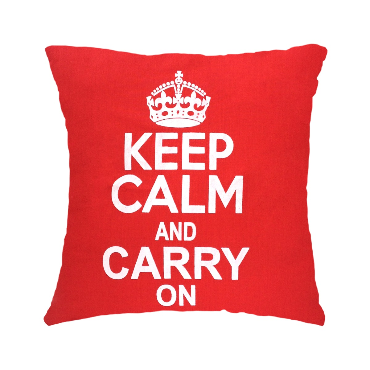 Stiletto In Style Cushion Cover Keep Calm & Carry On (Red) 40 X 40Cm