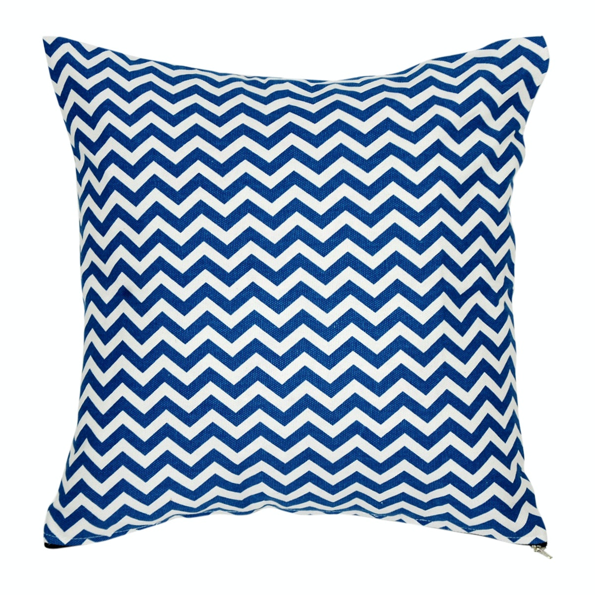 Stiletto In Style Cushion Cover / Sarung Bantal - Blue Chevron
