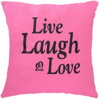 Stiletto In Style Cushion Cover Live Laugh & Love 40 X 40Cm