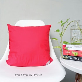 Stiletto Living Cushion Cover / Sarung Bantal Sofa Polos - Red