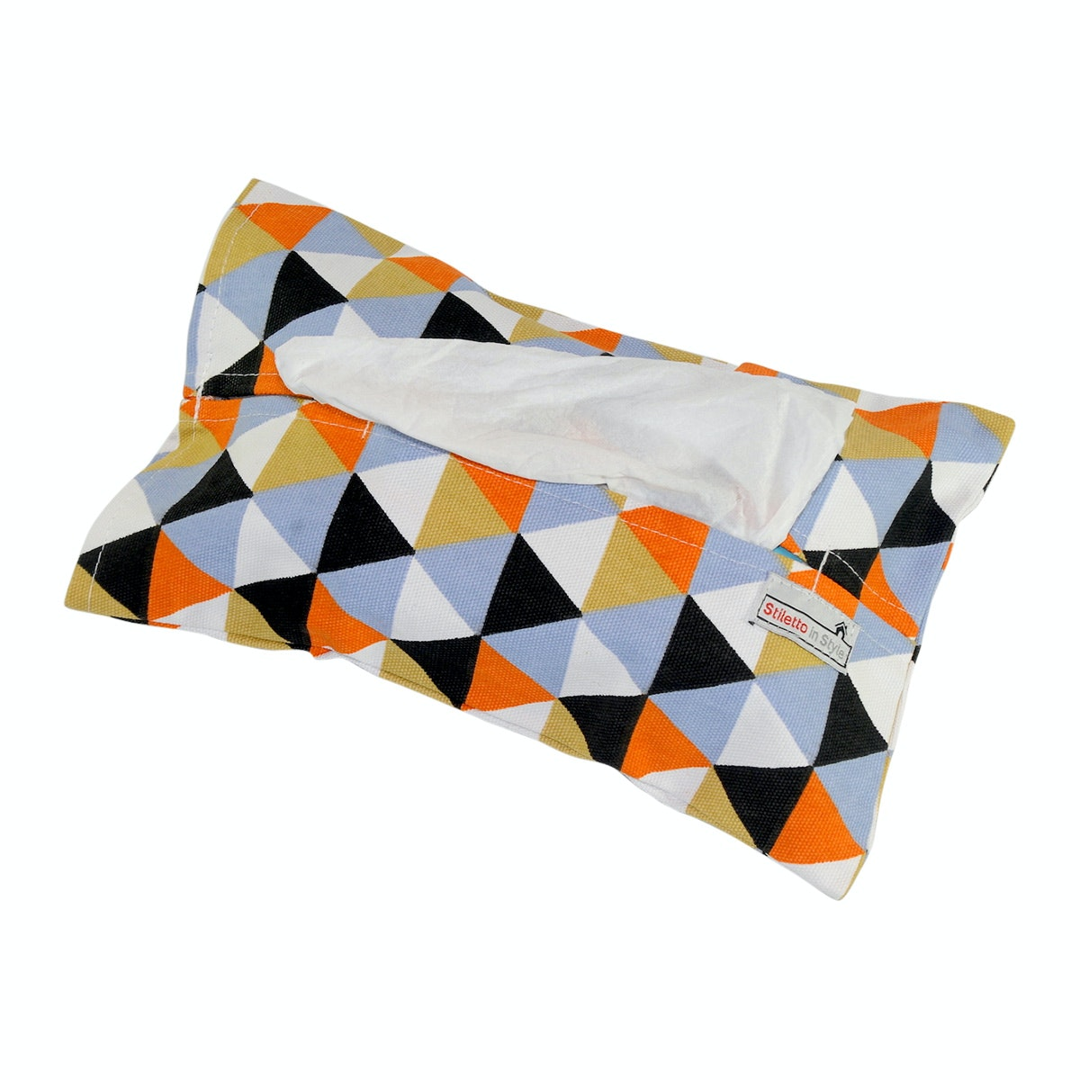 Stiletto In Style Tempat Tisu - Triangle Black Orange