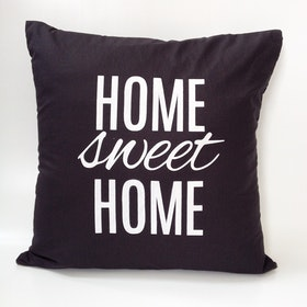 Stiletto In Style Cushion Cover Home Sweet Home (Black) 40 X 40Cm