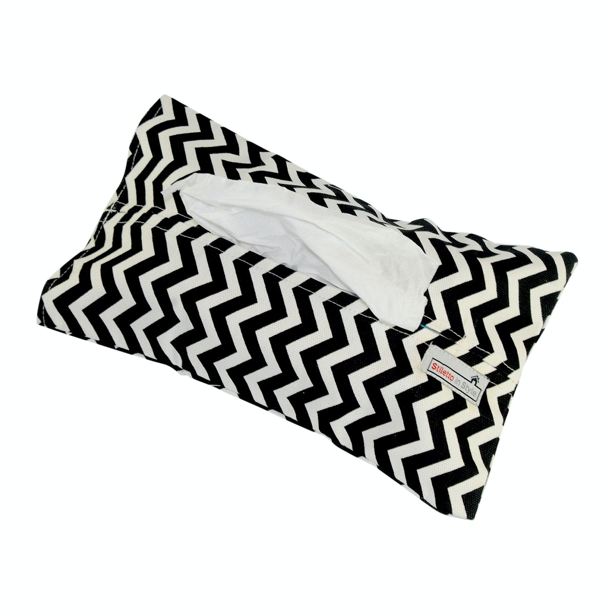 Stiletto In Style Tempat Tisu - Black Chevron