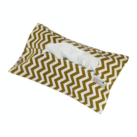 Stiletto Living Tempat Tisu - Brown Chevron