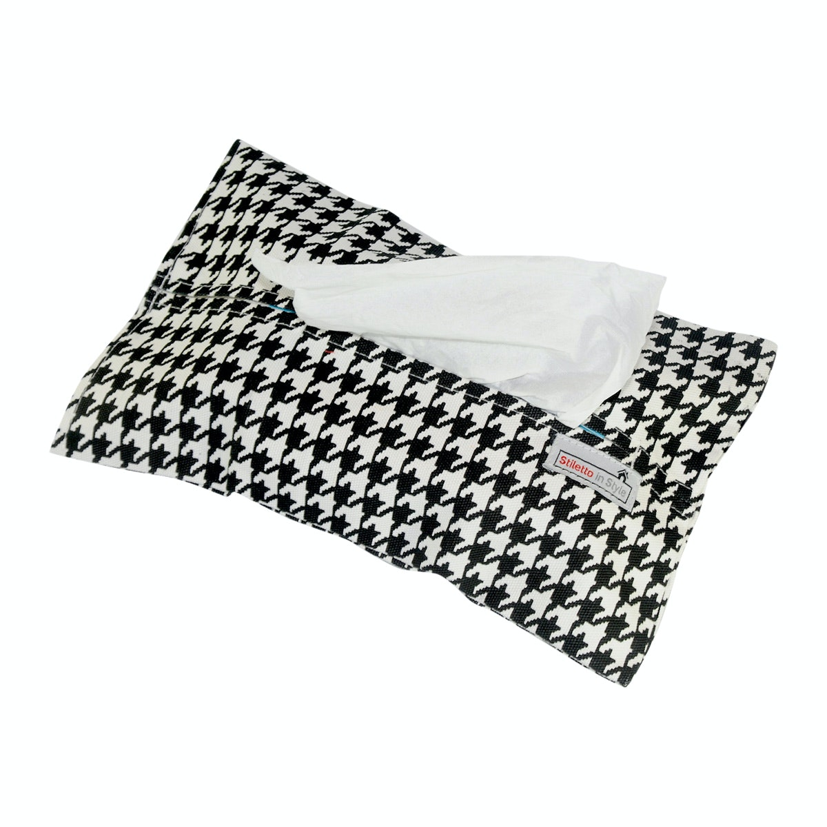 Stiletto In Style Tempat Tisu - Houndstooth