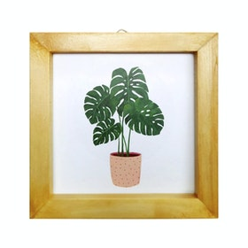 Stiletto In Style Wall Decor / Mini Poster Printing - 15 X 15 - Monstera