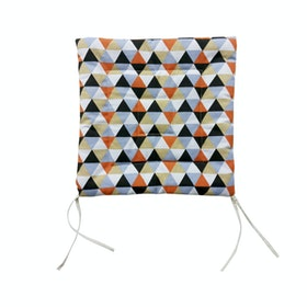 Stiletto Living Chair Pad / Alas Kursi - Triangle Black Orange