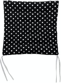 Stiletto Living Chair Pad / Alas Kursi - Polkadot Hitam