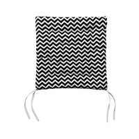 Stiletto Living Chair Pad / Alas Kursi - Black Chevron