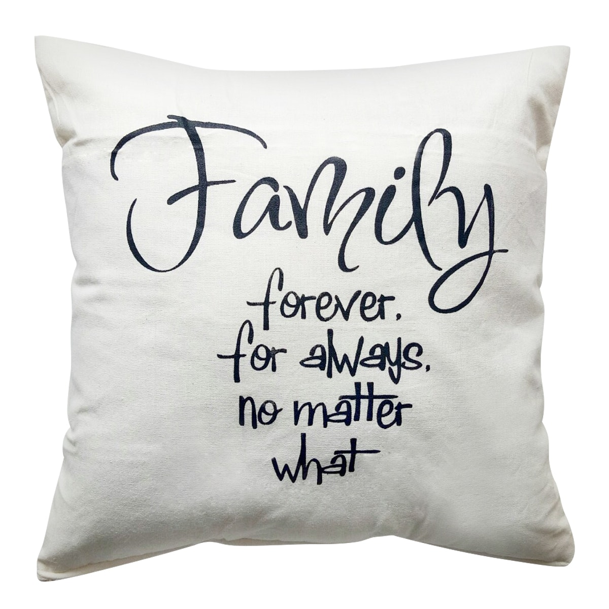 Stiletto Living Sarung Bantal Quote - Family Putih 40X40cm