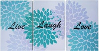 Stiletto In Style Wall Decor / Poster Printing / Poster 3In1 - Live Laugh Love