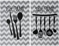 Stiletto In Style Wall Decor / Poster Printing / Poster 2In1 - Eat Well Live Well