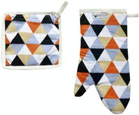 Stiletto In Style Glove Set / Sarung Tangan Dan Cempal - Triangle Black Orange