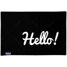 Stiletto Living Doormat / Keset- Hello Hitam