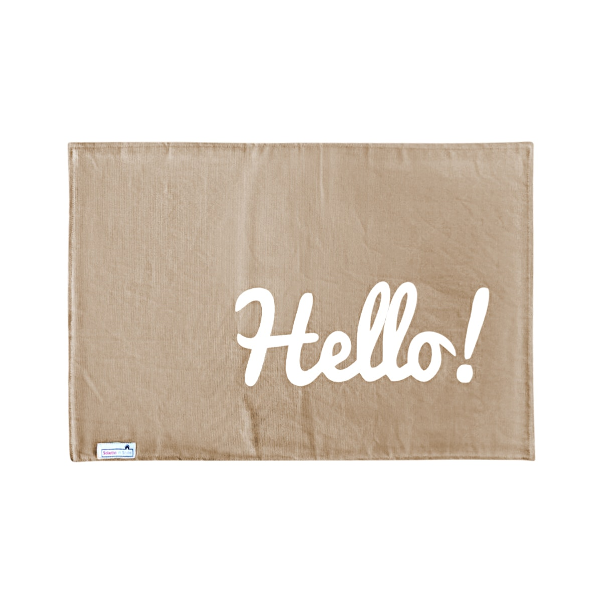 Stiletto Living Doormat / Keset- Hello Cokelat