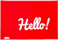 Stiletto Living Doormat / Keset- Hello Merah