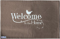 Stiletto Living Doormat / Keset- Welcome Home Cokelat
