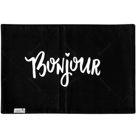 Stiletto Living Doormat / Keset- Bonjour Hitam