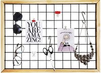 Stiletto Living Wiremesh / Mesh Board - Hitam Frame Natural (Kawat Anyam)