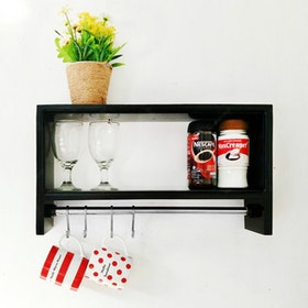 Stiletto Living Rak Dapur - Hitam