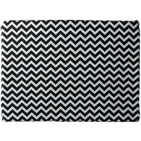 Stiletto Living Floor cushion / Alas kursi - Black Chevron