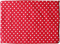 Stiletto Living Floor cushion / Alas kursi - Polkadot Merah