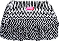 Stiletto Living Cover Tudung Saji Persegi - Black Chevron