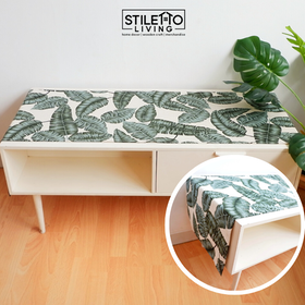 Stiletto Living Table Runner / Taplak Meja - Green Leaf