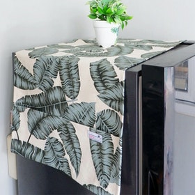 Stiletto Living Cover Kulkas / Sarung Kulkas - Green Leaf