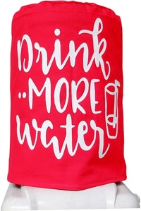 Stiletto Living Sarung Galon / Cover Galon - Drink More Water Merah