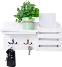 Stiletto Living Tempat Kunci / Rak Dinding / Key Holder Set - Putih