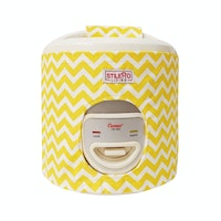 Stiletto Living Sarung Rice Cooker / Cover Magic Com - Yellow Chevron