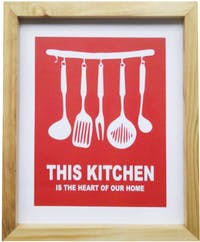 Stiletto In Style Wall Decor / Poster Printing - 25 X 30 - Red Kitchen