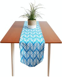 Stiletto Living Table Runner Panjang / Taplak Meja - Pinus Biru