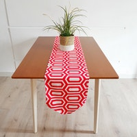 Stiletto Living Table Runner Panjang / Taplak Meja - Turtle Merah