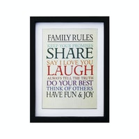 Stiletto In Style Wall Decor / Poster Printing - 30 X 40 - Family Rules