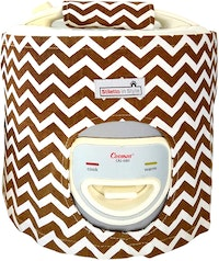 Stiletto In Style Cover Rice Cooker Brown Chevron