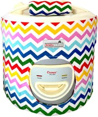 Stiletto In Style Cover Rice Cooker Rainbow Chevron