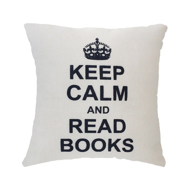 Stiletto In Style Cushion Cover Keep Calm & Read Books 40 X 40Cm
