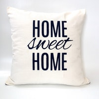Stiletto In Style Cushion Cover Home Sweet Home (White) 40 X 40Cm