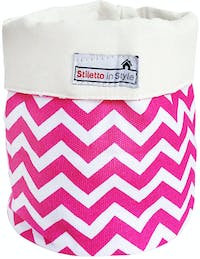 Stiletto In Style Small Storage - Pink Chevron