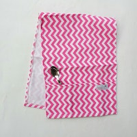 Stiletto Living Cover Microwave / Cover Oven - Pink Chevron