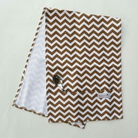 Stiletto In Style Cover Microwave / Cover Oven - Brown Chevron