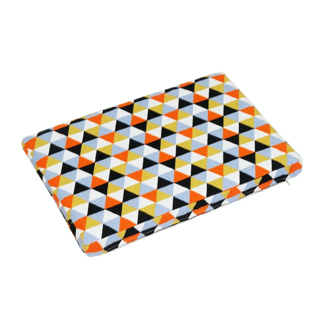 Stiletto Living Floor Cushion / Alas Duduk - Triangle Black Orange
