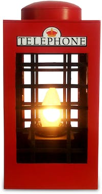 Sonja Lamp Telephone Box Lamp - Red